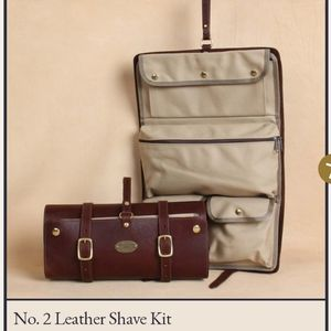 NWT COLONEL LITTLETON LEATHER NO. 2 DOPP SHAVE KIT